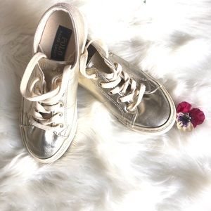 COPY-Polo Ralph Lauren Lace Up Girl Gold Sneaker 2